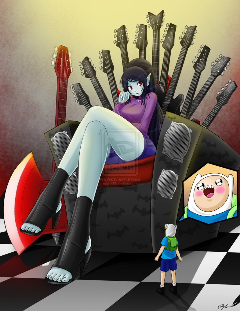 Adventure Time Big Boobs marceline's throne - adventure time with finn and jake photo