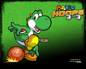 Yoshi Mario Hoops 3-on-3 Background