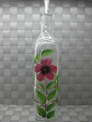 Glass painting-bottle