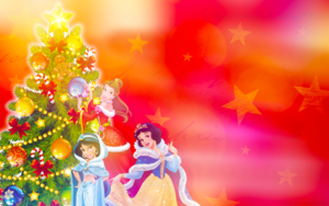 Holiday Princess - Belle, জুঁই and Snow White
