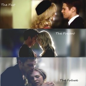 Matt is her past (her human love) Tyler was her present, klaus is her future