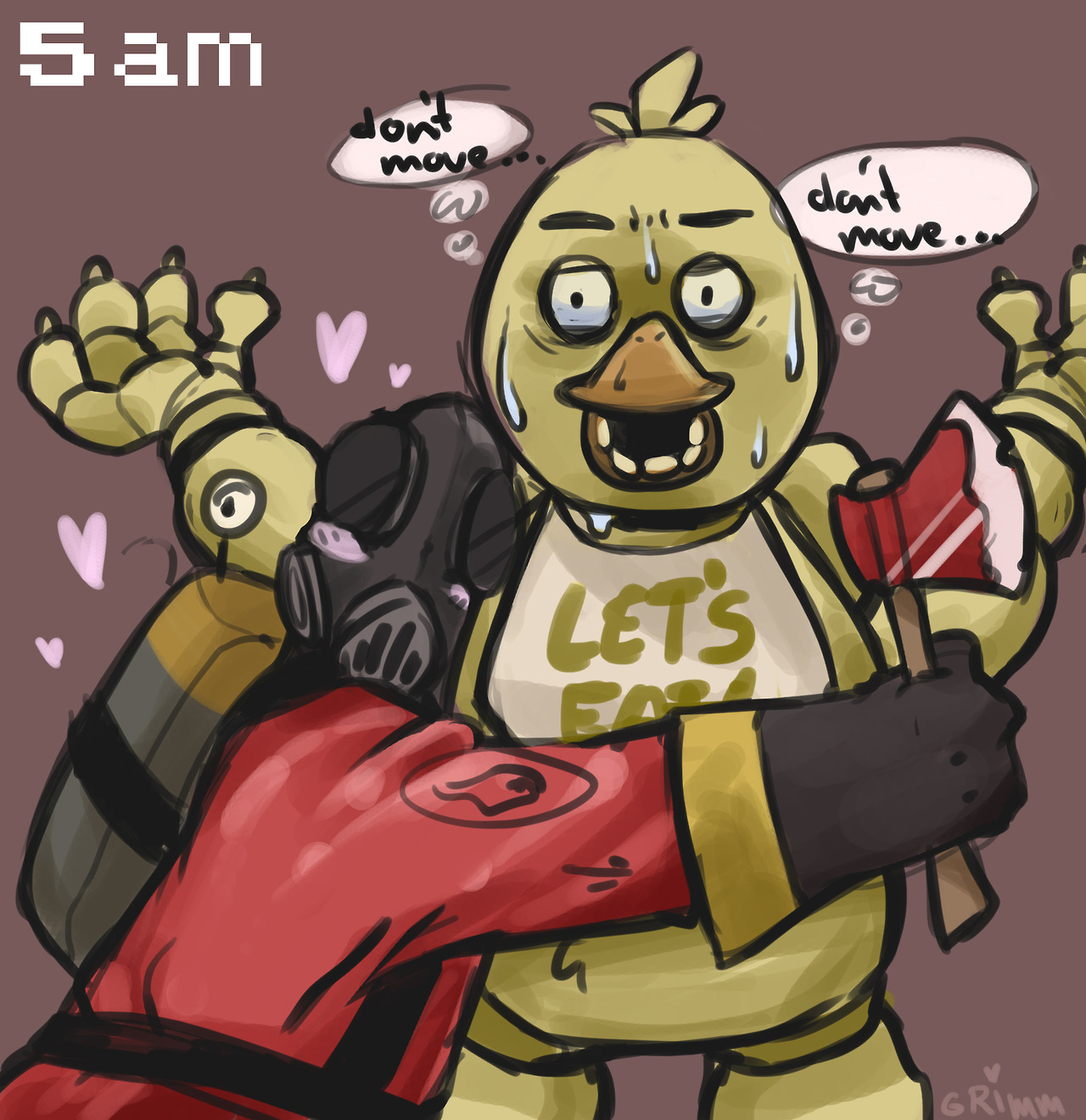 5 Nights At Freddy's Chica pyro's night at freddys 2 - five nights at freddy's fan art