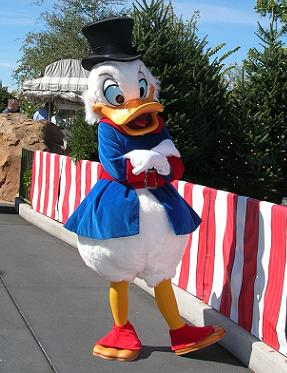 Scrooge at Disney World