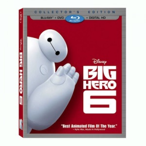 Walt Дисней DVDs - Big Hero 6 Blu-Ray Cover