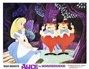 Walt Disney Production Cels - Alice, Tweedledum & Tweedledee