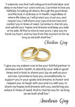Christian and Ana's wedding vows