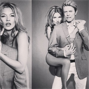 David Bowie and Kate Moss AD