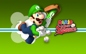Mario Super Sluggers Wallpaper