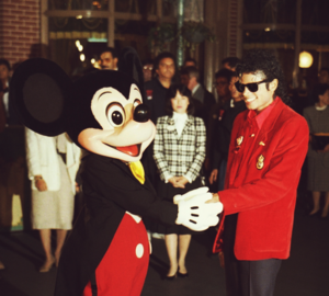 Mickey tetikus and Michael Jackson