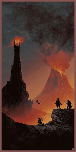 The Lord Of The Rings Trilogy Art por Matt Ferguson