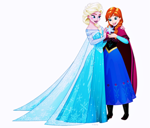 Walt Disney Bilder - Queen Elsa & Princess Anna