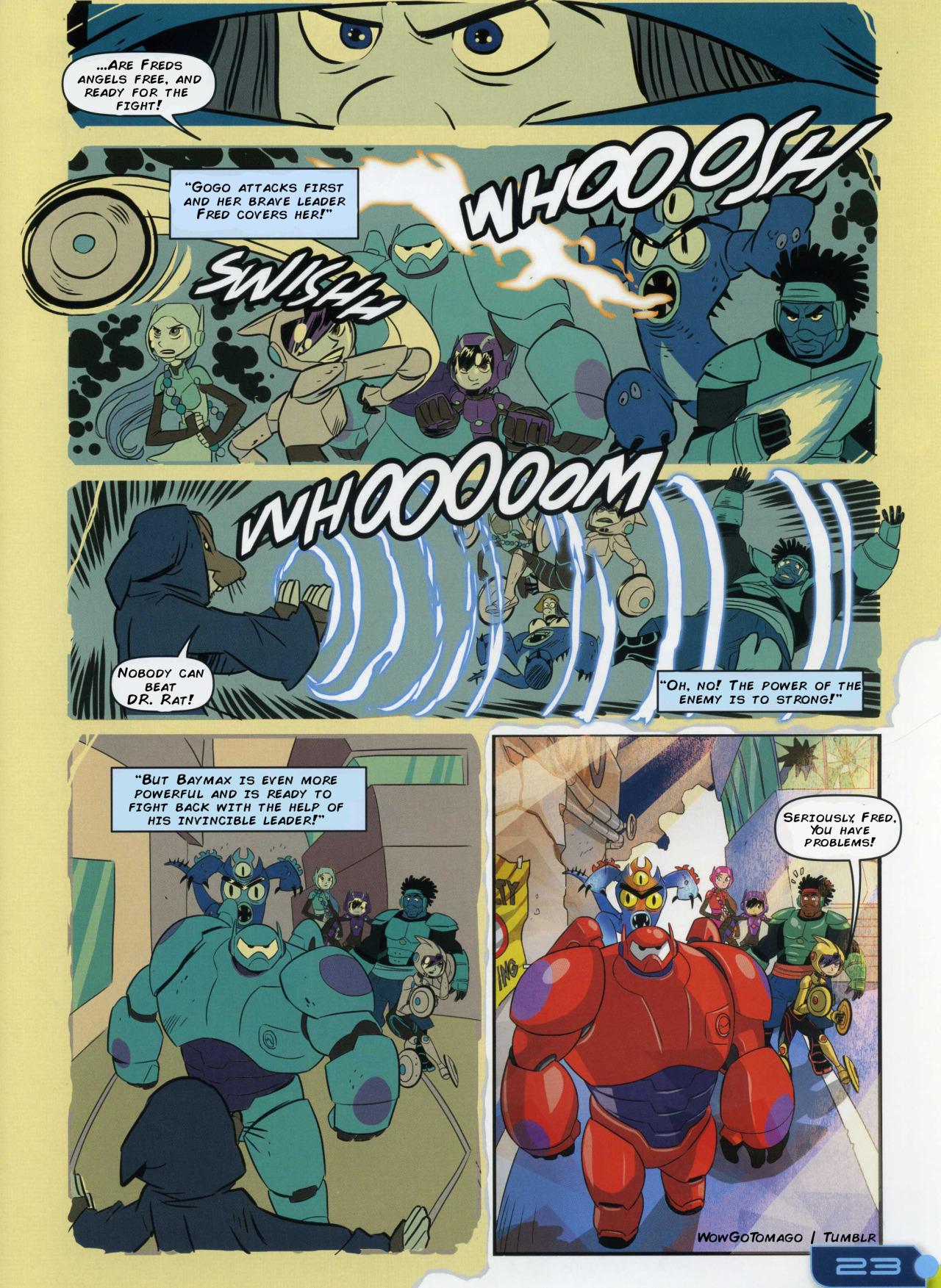 Big Hero Comic big hero 6 comic - adventurous imagination - operação big