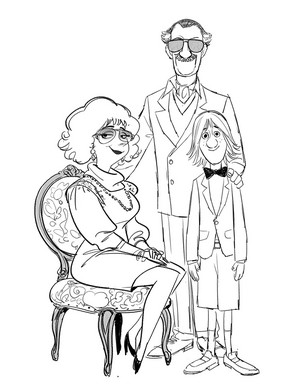 Big Hero 6 Concept Art - Fred's Family