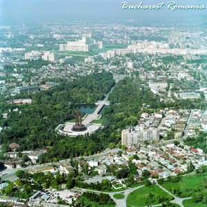 Bucharest aerial view, Romania capital city