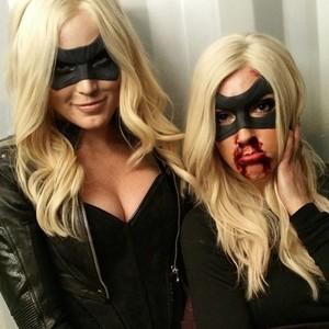 Katie Cassidy and Caity Lotz