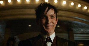 Oswald Cobblepot smeared in blood