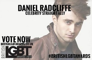 "VOTE Daniel Radcliffe For ""straight ally"" 'Link is in Links' (Fb.com/DanieljacobRadcliffeFanClub)"