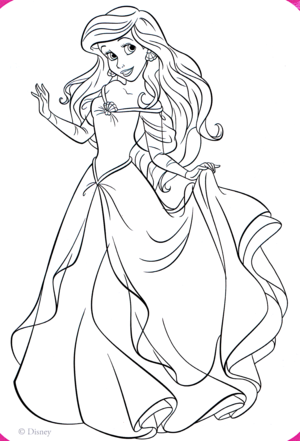 Walt डिज़्नी Coloring Pages - Princess Ariel