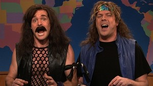 Will Forte and Jason Sudeikis as 'Jon Bovi' in Saturday Night Live