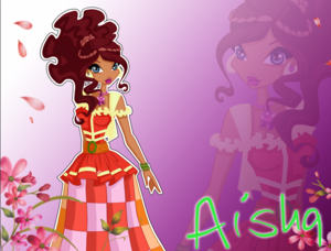 Winx Club Season 6 Aisha Plain Dress Outfit