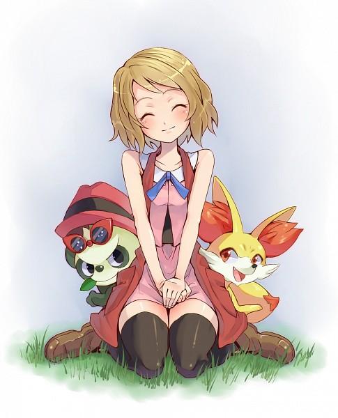 Serena,Fennekin and Pancham   Pokemon, Pokémon x, Anime