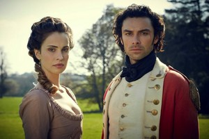Aidan Turner and Heida Reed in Poldark