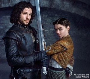Jon Snow and Arya Stark