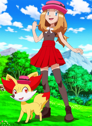Pokemon Serena and Fennekin