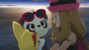 Serena Fennekin and Pancham