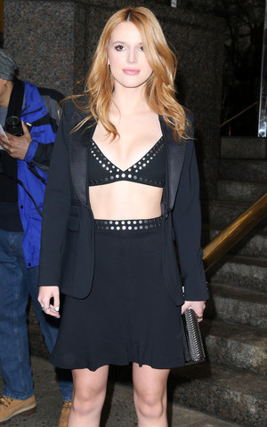 Bella Thorne steps out in the evening in NYC 03/26/15.