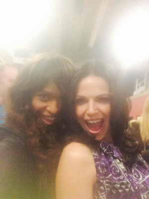 Lana Parrilla and Merrin Dungey