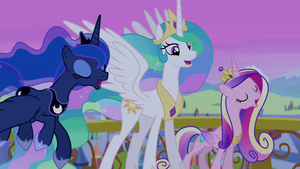 Luna, Celestia, and Cadance গান গাওয়া