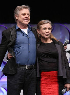 Mark Hamill and Carrie Fisher aka Luke Skywalker and Leia Organa at The Star Wars Celebration
