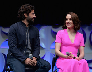 Oscar Isaac and Daisy Ridley at The Star Wars Celebration