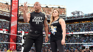 The Rock and Ronda Rousey