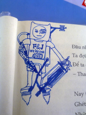 When My Deskmate Draws Finn...