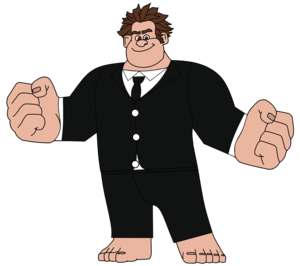 Wreck-It Ralph in a Night Out Suit