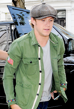 Niall Horan at studio in West London, 24 April 2015.