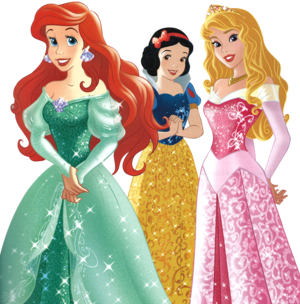 Ariel, Snow White and Aurora - .png file