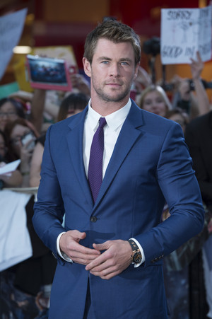 Chris Hemsworth Red Carpet at Avengers Age of Ultron UK Premiere