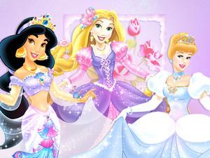 Jasmine, Rapunzel and Cendrillon