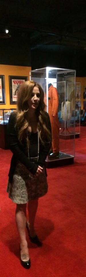 Lisa at the opening of the new Elvis exhibition