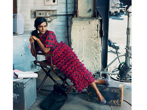 Mindy Kaling in Vogue - April 2014