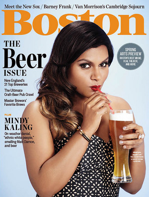Mindy Kaling on the cover of Boston Magazine - April 2015