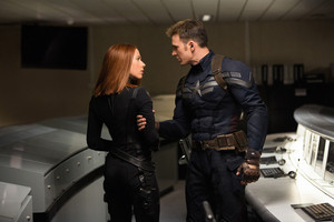 Natasha and Steve - Captain America The Winter Soldier.