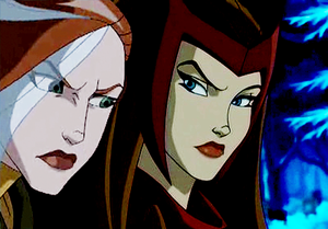 Rogue and Scarlet Witch
