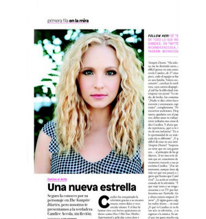 Scan of Candice in the Glamour Mexico (May 2015)