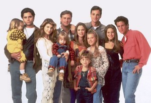 The Cast during Season 8 of Full House