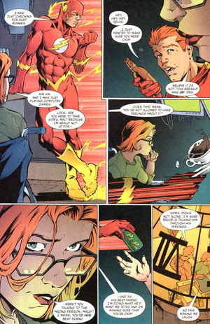 The Flash and Barbara Gordon