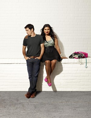 The Mindy Project - Season 1 Portrait - Chris Messina and Mindy Kaling